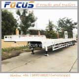 3 chinesischer niedriger Bett-LKW-Schlussteil der Wellen-50tons