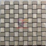 Плитки мозаики алюминиевого смешивания формы Weave керамические (CFA76)