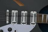 Guitare électrique noire de jazz de Rickenback de corps solide de 12 chaînes de caractères (GR-11)