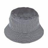 Il doppio su ordinazione parteggia cappello nero della benna per il contrassegno tessuto