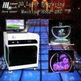 machine de gravure du laser 3D en cristal, machine brûlante Hsgp-2kc de laser à verre