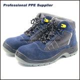 Suede de corte superior de cuero Zapato de seguridad de la inyección de poliuretano SS-028