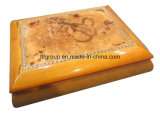 Contenitore di regalo di legno artistico personalizzato rivestimento Shinning del contenitore di sigaro