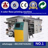고속 4 색깔 유연한 인쇄 압박