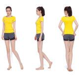 摩耗を揺する高品質のヨガのブラの女性のワイシャツの女性のレギング