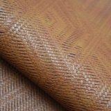 Кожа PU картины Weave корзины выбитая синтетическая для сумки мешка