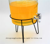 Envase de cristal del tarro del almacenaje del jugo de la venta caliente/de bebidas con la tapa/la cristalería de cristal