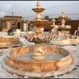 Fontaine en pierre rouge de coucher du soleil léger pour les meubles Mf-1021 de jardin