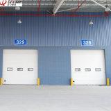 Промышленная изолированная секционная надземная дверь гаража