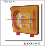 Caixa leve acrílica ao ar livre de sugação por atacado do diodo emissor de luz
