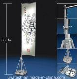A película plástica telescópica do PVC da parte traseira do cinza da base da bexiga da água de Pólo Es da fibra de vidro embandeira a bandeira do vôo do Teardrop