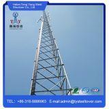 Torre de comunicação de aço do ângulo da tensão elevada