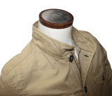 Revestimento magro do inverno do ajuste dos homens ocasionais do revestimento do colar do revestimento do Multi-Bolso