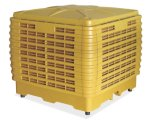 En la pared exterior de evaporación de agua ventilador de refrigeración de aire móvil