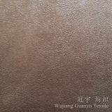 Tessuto della pelle scamosciata del cuoio del poliestere del tessuto da arredamento per il sofà
