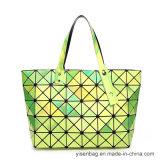 Rhombic Geometry PU Handの方法多彩な女性のハンド・バッグ