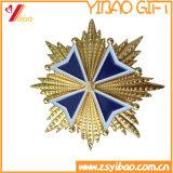 Qualité en alliage de zinc de Badgewith d'émail de /Soft d'insigne de médaille d'or (YB-SM-34)