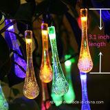 16FT Lichten van het Koord van de Dalingen van het 20LED de Zonne Aangedreven Water (RS1019)