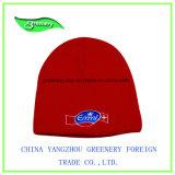 Sombrero rojo del Knit de la gorrita tejida del nuevo bordado del diseño