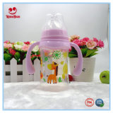 Double Couleurs Wide Neck Plastic Baby Feeding Bottle with Straw