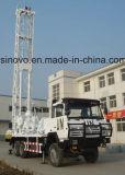 carro drilling montado, plataforma de perforación rotatoria de la profundidad de los 300m del receptor de papel de agua de SIN300st