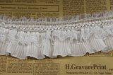 Laço elástico branco por atacado do plissado para DIY