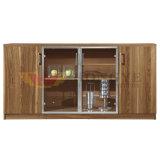 تصميم حديثة خشبيّة زجاجيّة باب مكتب إستعمال شام خزانة ([ه-ك02])