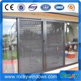 Indonesia vidrio templado de aluminio ventana deslizante con pantalla de la mosca