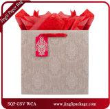 Rote gedruckte Geschenk-Einkaufen-Beutel-glatte Laminierung sackt Papiereinkaufen-Geschenk-Beutel ein