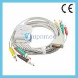 Ge Mac1200 12 Lead ECG Cable con conector banana derivaciones