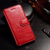 Случая бумажника PU крышка стойки Flip кожаный защитная для телефона