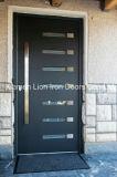 Diseño moderno de la ventana de la calidad de la sola puerta de encargo estupenda del hierro