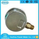 1.5inch-40mm Demi en acier inoxydable Type de filetage inférieur Compteur de pression rempli de liquide