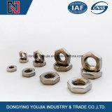 석유 화학 산업을%s 10.9grade DIN439 육각형 얇은 견과
