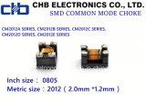 de Gemeenschappelijke Vernauwing van de Wijze 0805 90ohm @100MHz voor de Lijn van het Signaal USB2.0/IEEE1394, Grootte: 2.0*1.2mm