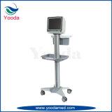 Carretilla del monitor paciente del hospital y del suministro médico