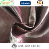 Moda 100 Polyester Casaco de couro tecido forro em relevo de calor