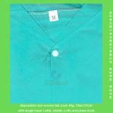 Cappotto medico a gettare con il collare singolo o doppio di strato