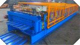 Colorare il rullo di doppio strato delle mattonelle di tetto della lamiera di acciaio che forma la macchina
