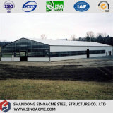 Light Portal Frame Steel Building para Ranch com escritório