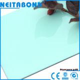El panel compuesto de aluminio 3m m del alto color brillante del precio competitivo 2m m para la tarjeta de la cabina