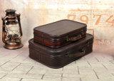 Caja de madera de estilo retro portátil