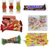 Snickers automáticos do alimento do fluxo que envolvem a máquina de embalagem