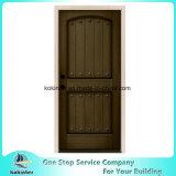 Porte en bois d'acajou souillée par planche rustique de 2-Panel Prehung