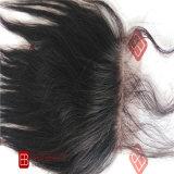 Cheveux humains brésiliens de fermeture de lacet