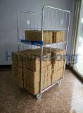 Супермаркет динамического хранения металлический каркас безопасности тележки