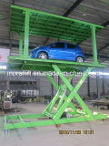 Levante a plataforma para o estacionamento do veículo