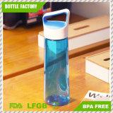 Бутылка воды прозрачной новой конструкции пластичная с ртом ручки широким