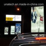 Immagine di media che fa pubblicità al tabellone per le affissioni esterno di alluminio delle caselle chiare di Mupy di Scrolling della lampadina del blocco per grafici LED