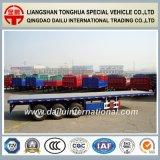 3 Axles 40FT планшетный контейнера перевозки трейлер Semi в сини